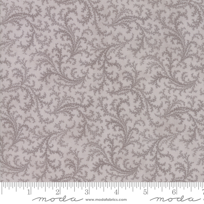 44194 13 Porcelain - Plumes Silver by Moda