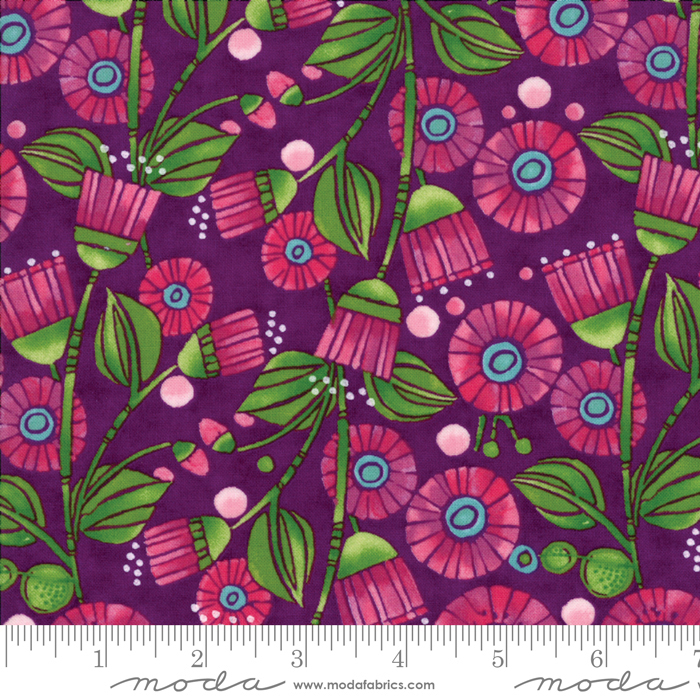 48641 16 Sweet Pea Lily Plum By Robin Pickens Moda
