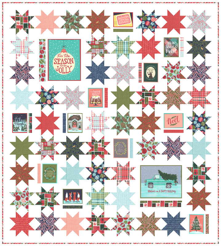 To Be Jolly Quilt Kit 68 x 76