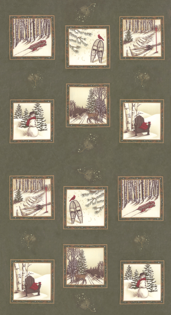 Frosted Flannels - Cypress - Panel 24 x 44