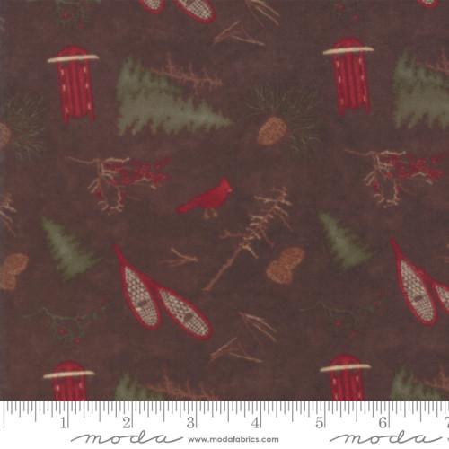 FROSTED FLANNELS WALNUT BROWN W/ PRINT 6781-18F