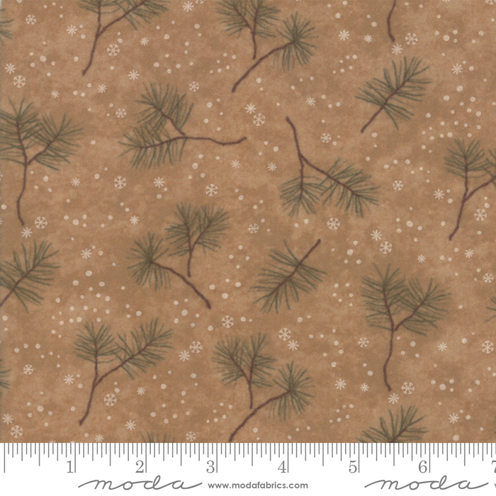 Frosted Honey Flannel - Pine Branches 6782 17F