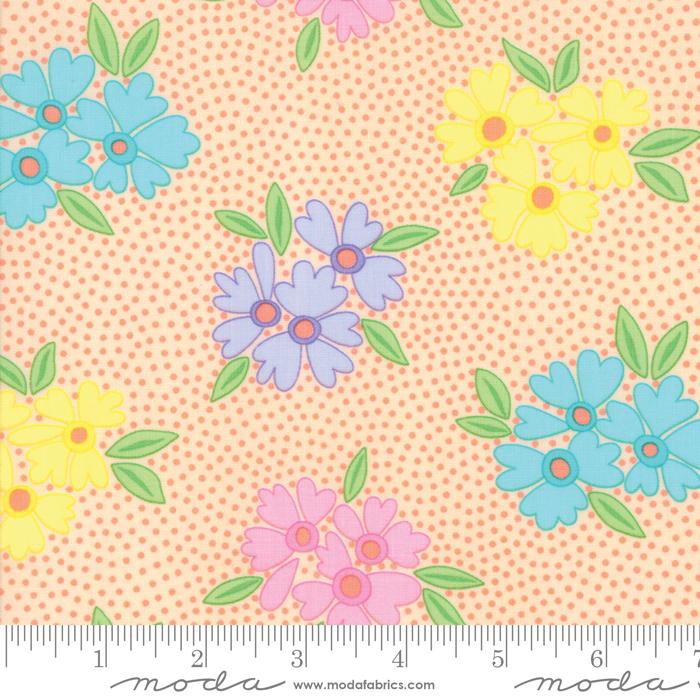 Fabric-Moda Good Day Floral Orange
