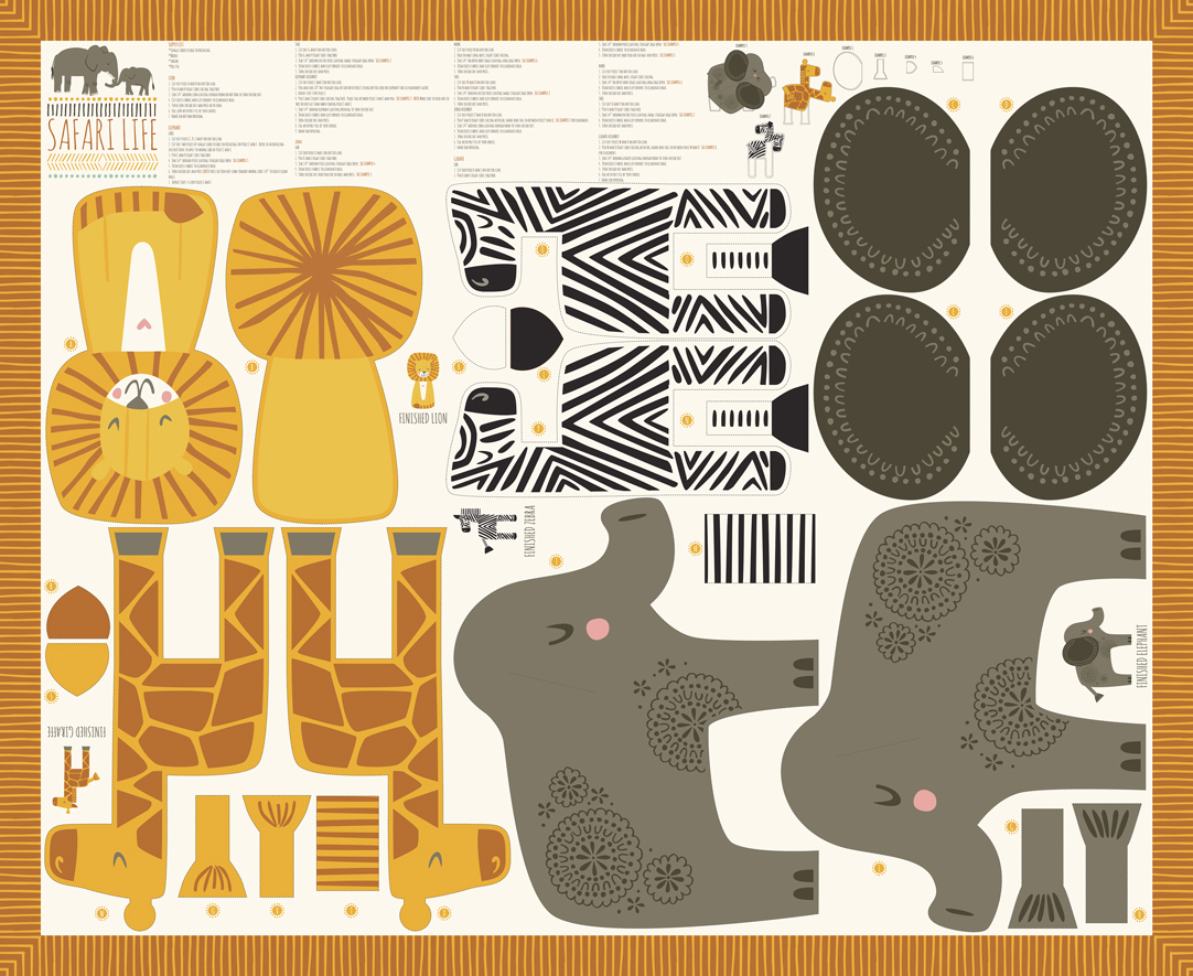 Safari Life 36 x 44 Panel  Multi