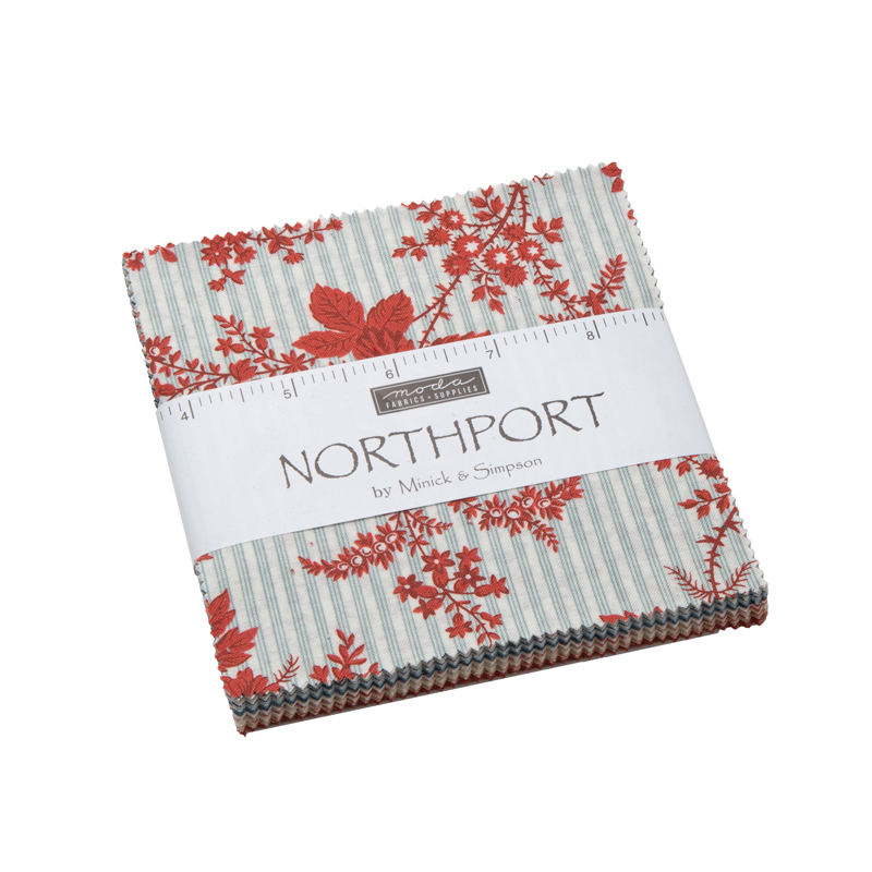 Moda - Northport Prints - Minick and simpson - Charm Pack