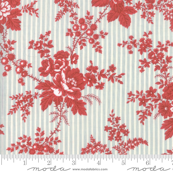 Fabric - Northport Prints Blue Red