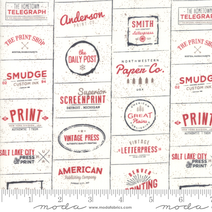 The Print Shop Cream Red 5740 13