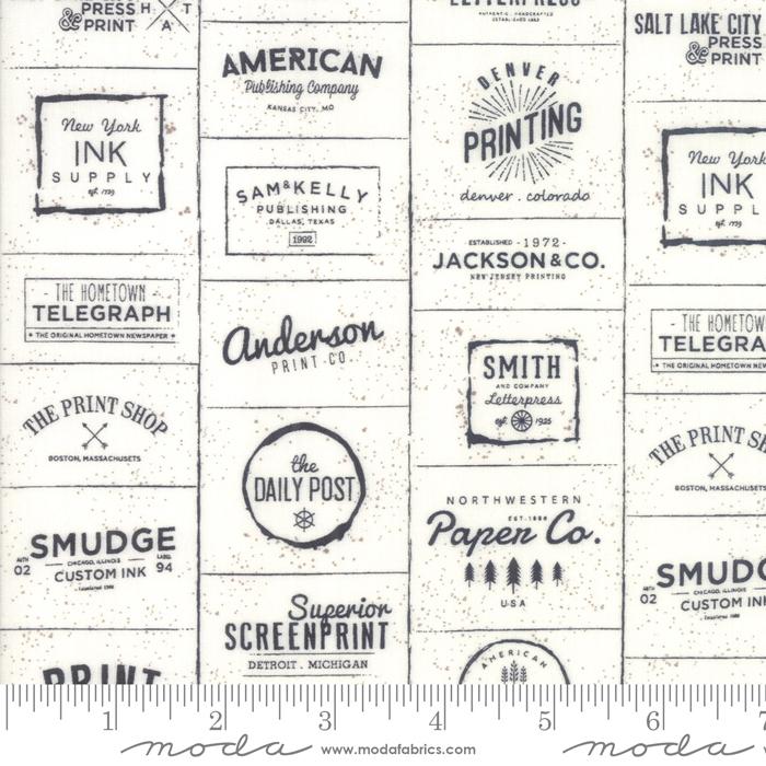 Item#12044.A - The Print Shop Cream Black - Moda - Sweetwater