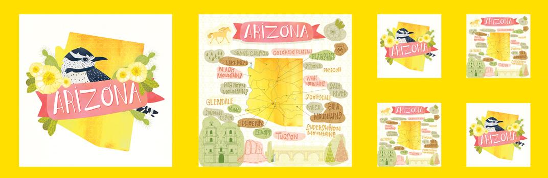 Arizona Panel Sunset Desert Song