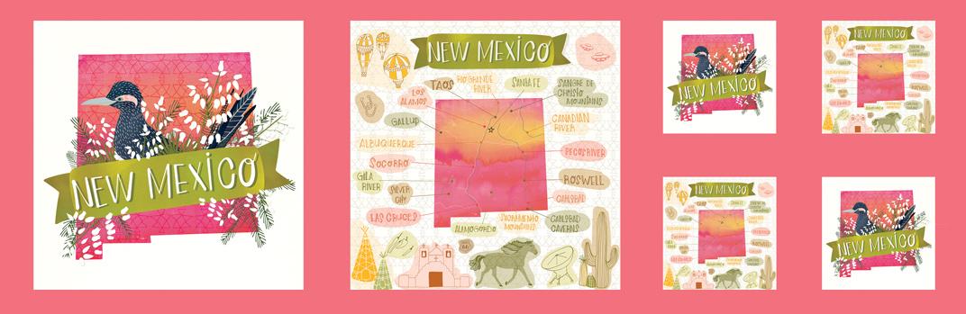 New Mexico Panel Sunset Desert Song