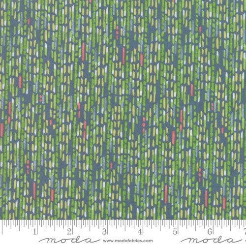Moda Painted Meadow Lines - Teal (Min Order of 1m)