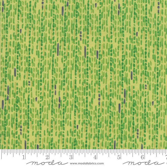 Moda Painted Meadow Lines - Sprig Green (Min Order of 1m)