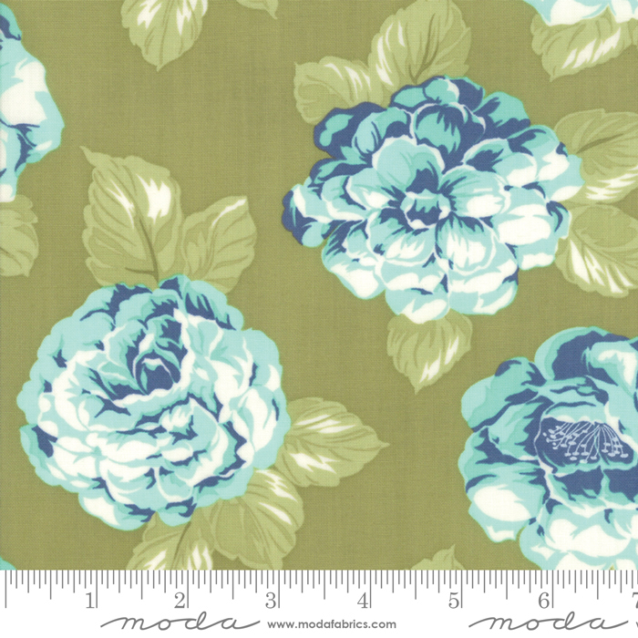 55190 16 Early Bird Blooms Green by Bonnie & Camille for Moda