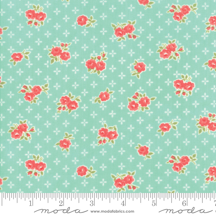 55191 12 Early Bird Sweet Aqua by Bonnie & Camille for Moda