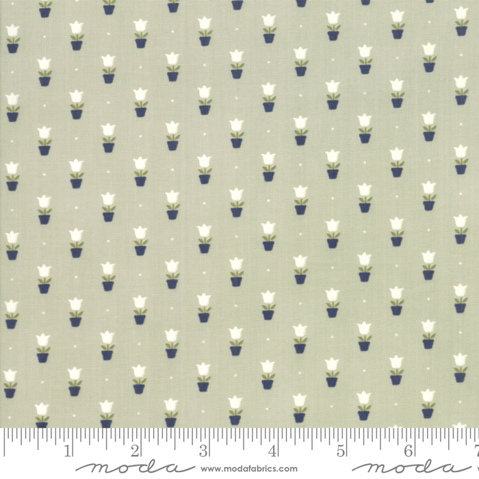 55197 14 Early Bird Tulips Gray  by Bonnie & Camille for Moda