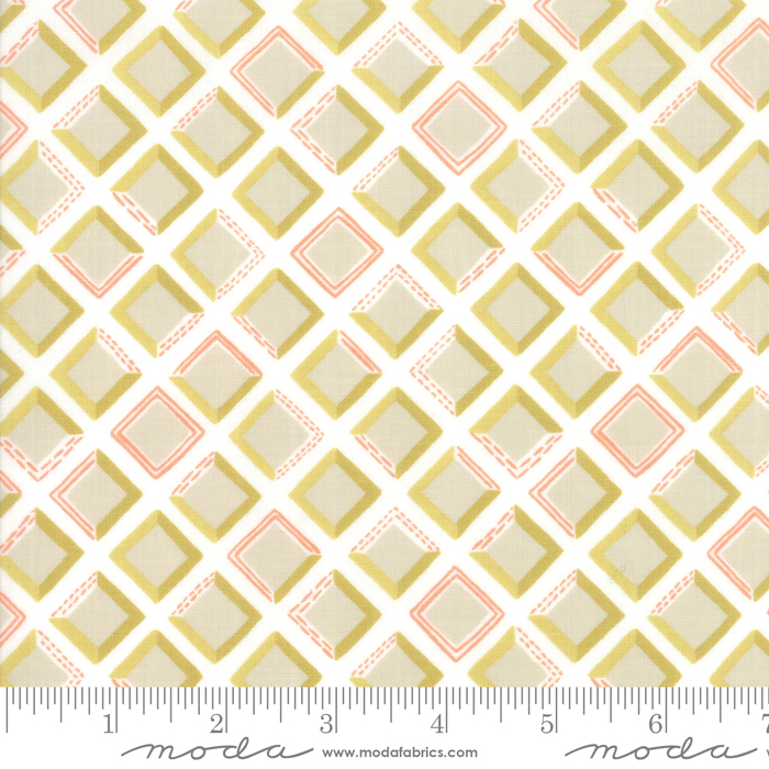 Goldenrod - Tiles - Bisque White