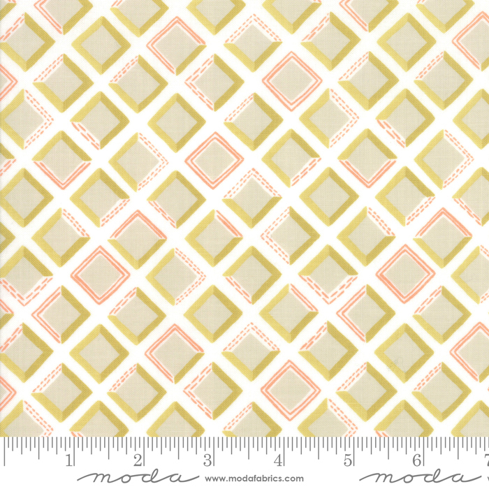 goldenrod tiles coral white