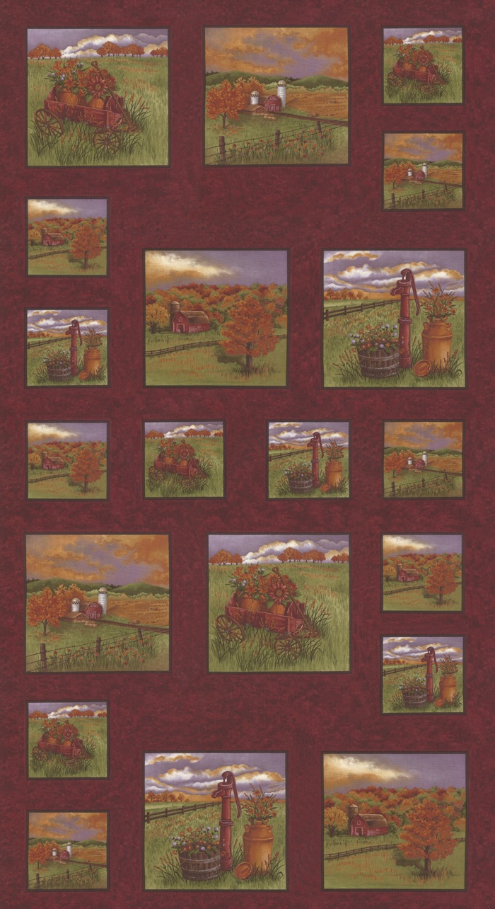 Country Charm  Rus Red Panel 6790 13
