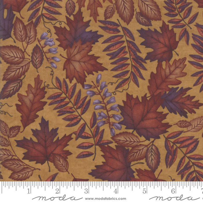 COUNTRY CHARM DEEP GOLD WITH FALL LEAVES 6791-14