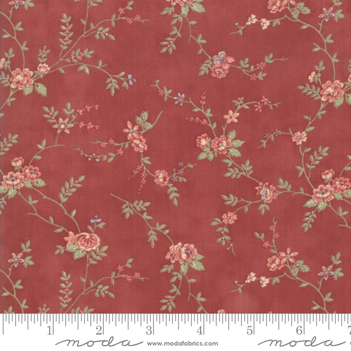 Memoirs Rust Romantic Blooms by 3 Sisters for Moda 44213-15