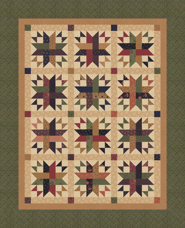 Milestones Kit 60 x 74 by  Kansas Troubles Quilters for Moda