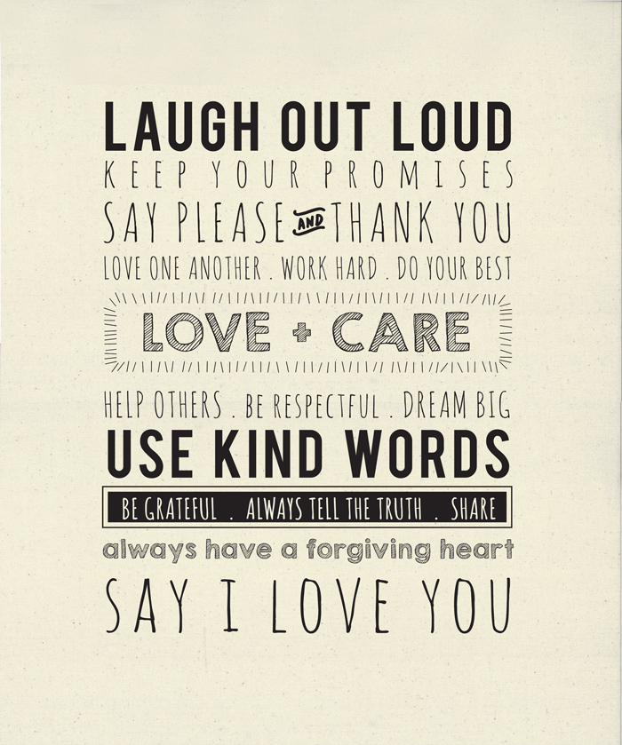Printworks Use Kind Words Panel 54 X 65