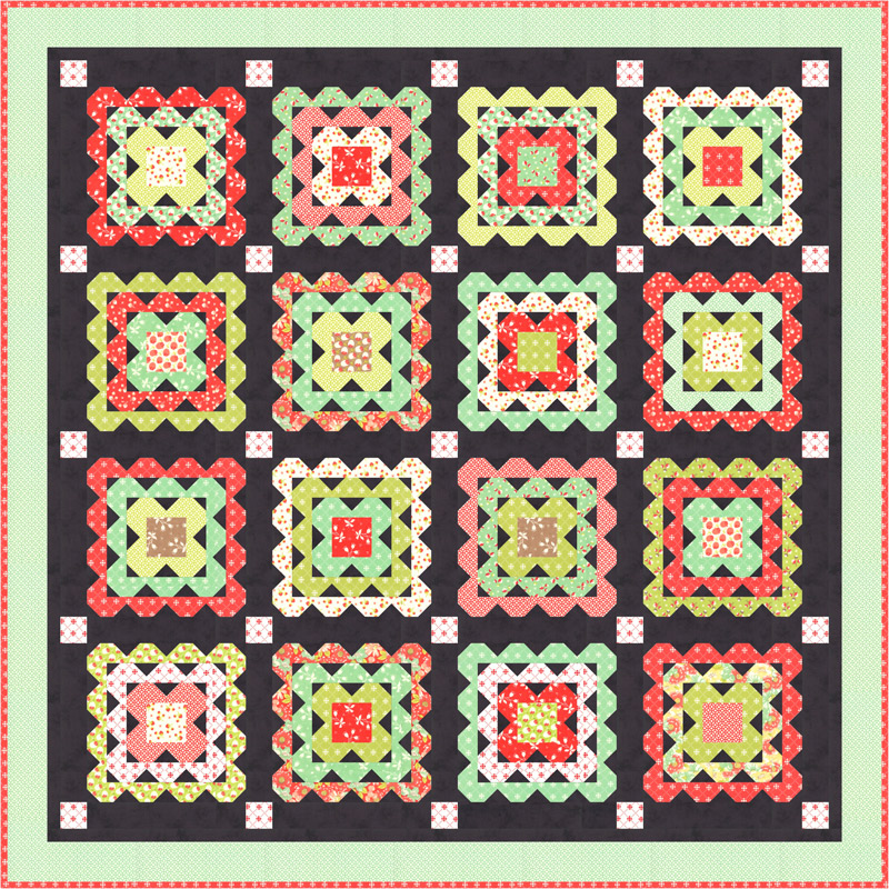 Scarlet Sage Kit by Fig Tree & Co for Moda Fabrics