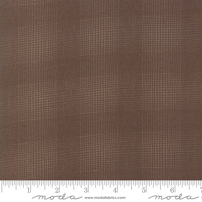 Clover Meadow by Jan Patek: Textured Plaid - Earth Brown