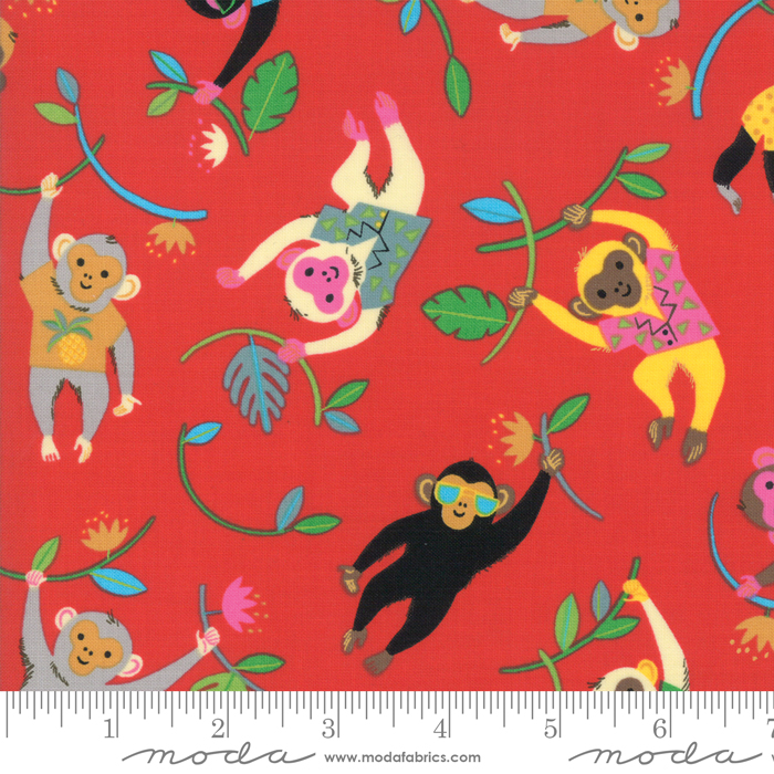 Bicycle Bunch Cherry Tossed Monkeys Fat Quarter