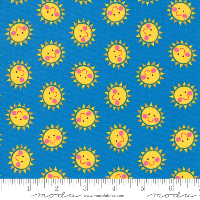 Bicycle Bunch Blue Raspberry Smiley Suns