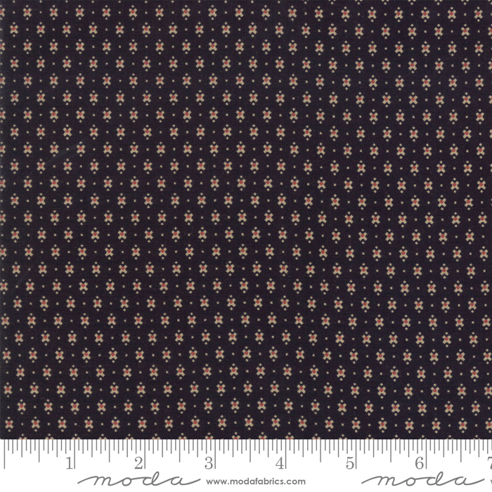 Fabric-Moda Lancaster Small Print Black