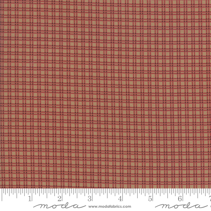 Fabric-Moda Lancaster Plaid Tan