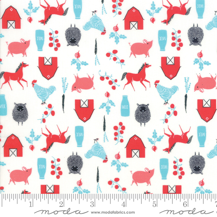 Fabric - Farm Charm Multi -48294 11