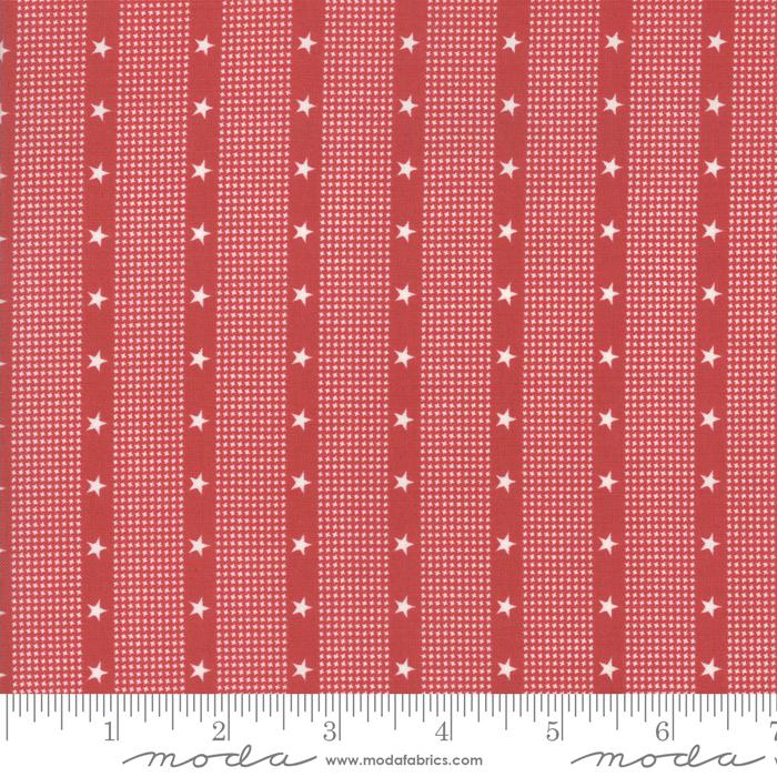 Mackinac Island - Striped Star - Red