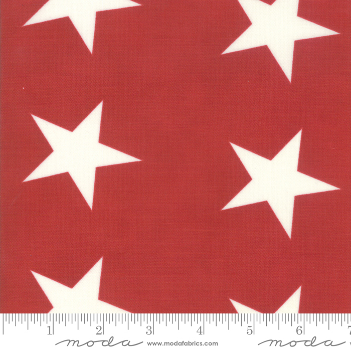 Mackinac Island - Bunting Star, Red - by Minick  Simpson for Moda
