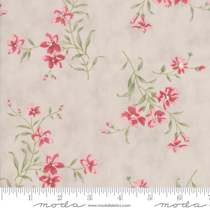 Rue 1800 -  Dove - multi floral