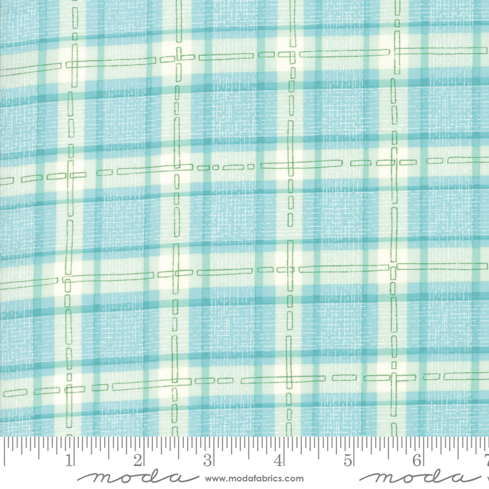 Abby Rose - Plaid with Ease, Seafoam - by Robin Pickens for Moda