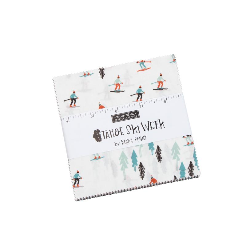 Tahoe Ski Week - Charm Pack of 42 5 Squares - by Mara Penny for Moda Fabrics