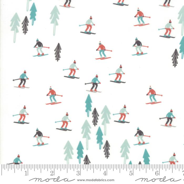 Tahoe Ski Week - Ski Slope, Powder - by Mara Penny for Moda Fabrics
