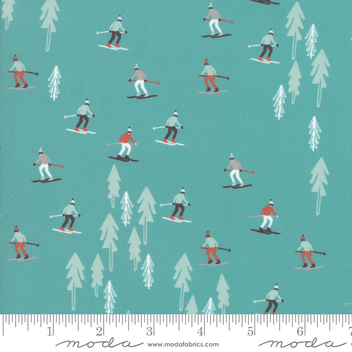 Tahoe Ski Week - Ski Slope, Evergreen - by Mara Penny for Moda Fabrics