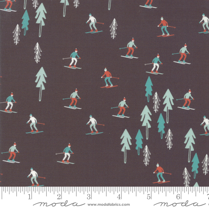 Tahoe Ski Week Black Diamond Ski Slope by Mara Penny for Moda 13340-17