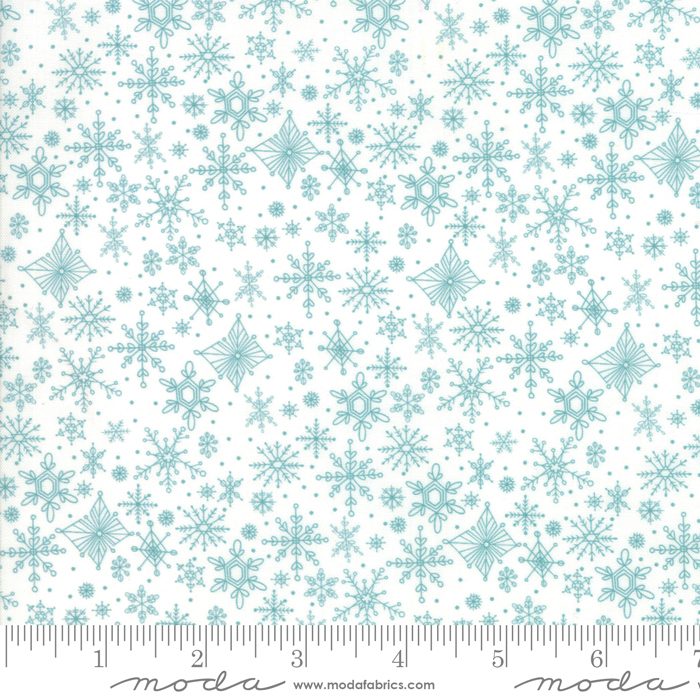Tahoe Ski Week Powder Snowflakes by Mara Penny for Moda 13344-11