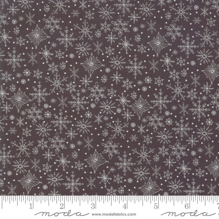 Tahoe Ski Week Black Diamond Snowflakes by Mara Penny for Moda 13344-17