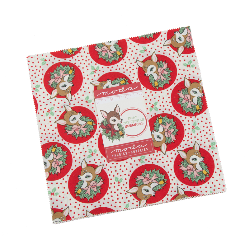 Deer Christmas Layer Cake by Urban Chiks for Moda 31160LC