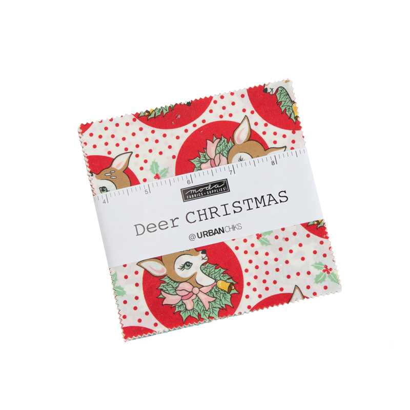 Deer Christmas Charm Pack by Urban Chiks for Moda