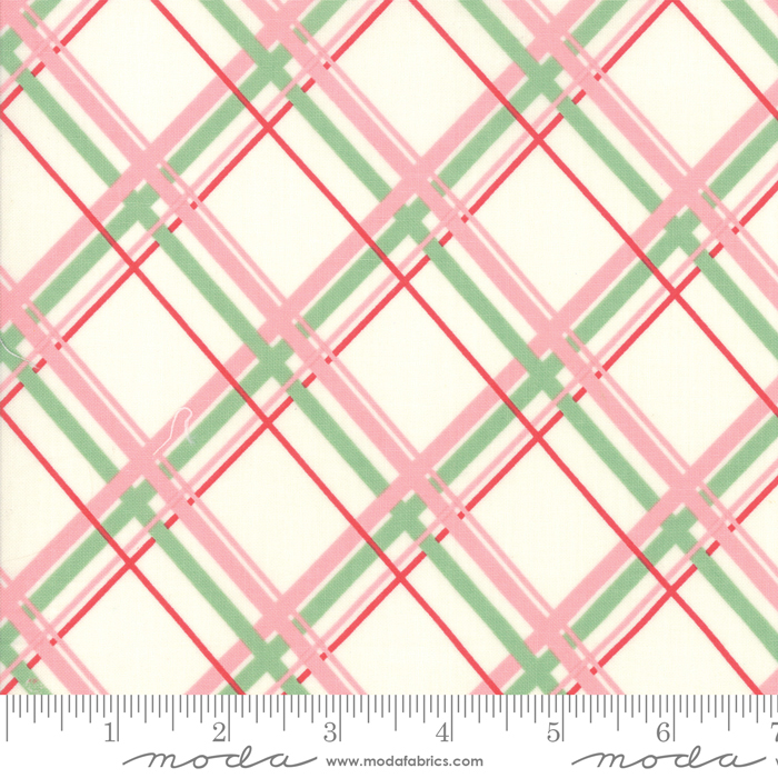 Deer Christmas Marzipan Pink Plaid