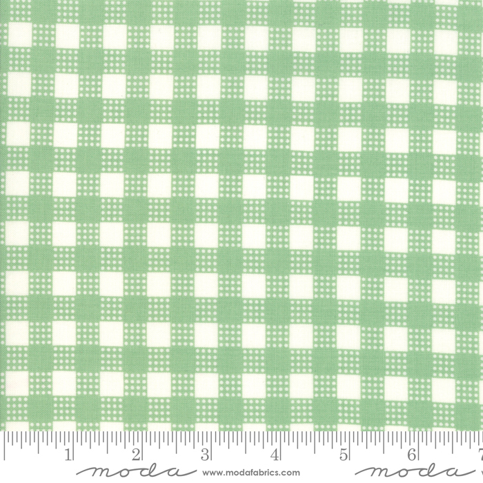 Deer Christmas Spearmint Gingham - 31166-14