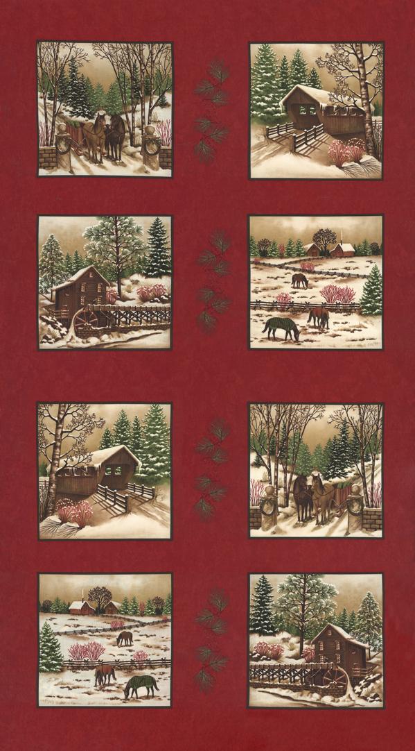 Winter White 6810-11 24 x 44 Crimson