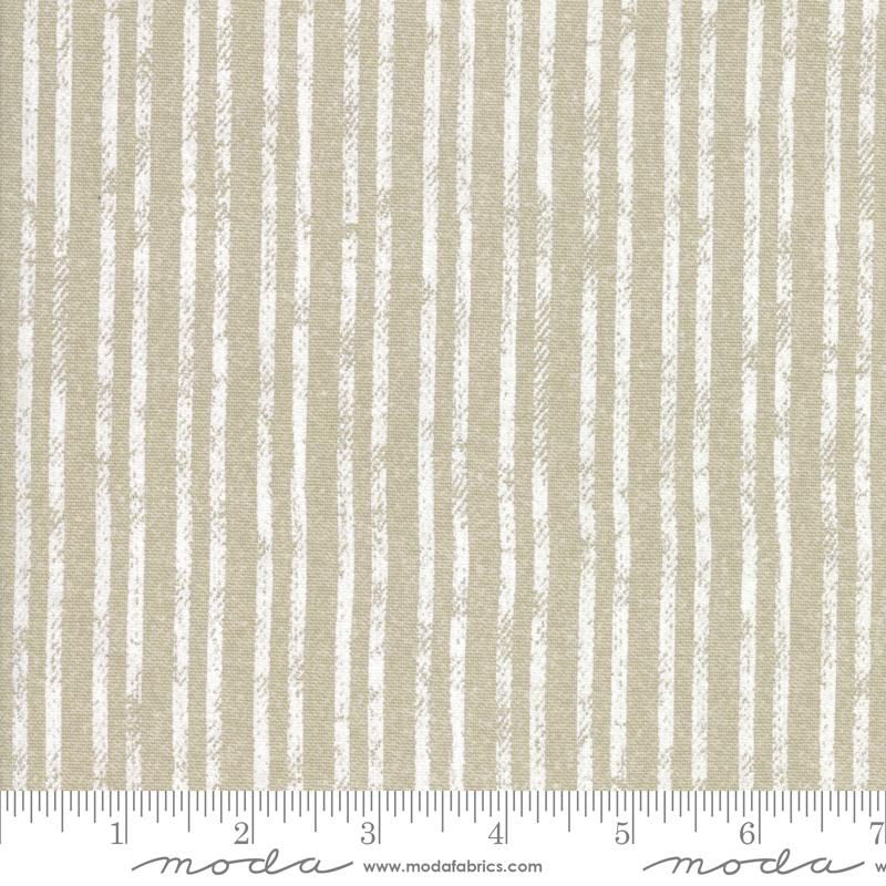 Branded - Canvas Stripe - Khaki - 54 Wide