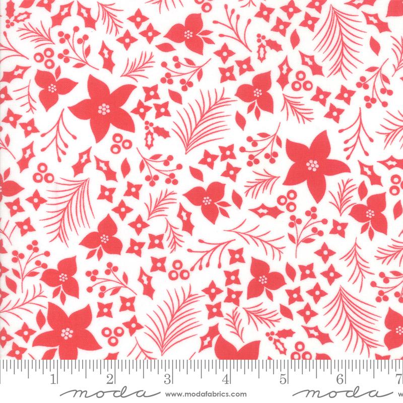 Item#13060.E -  Holliberry Snow Scarlet  - Moda - Corey Yoder